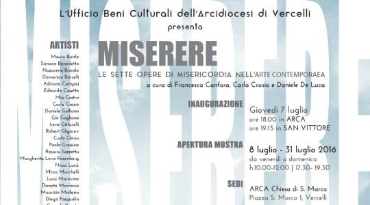 Miserere: le opere di misericordia nell'arte contemporanea