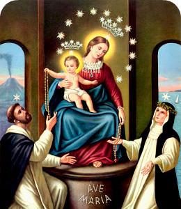 Madonna del Rosario nella comunità pastorale Vercelli centro