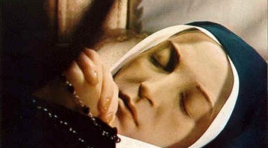 Le reliquie di Bernadette in cattedrale